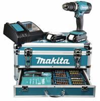 Makita DHP453RYX2 Trapano avvitatore a percussione, 2 batterie 18 V/3 Ah