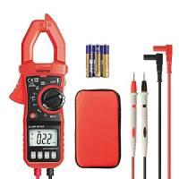 Eventek ET820 Pinza Amperometrica Digitale Professionale, Multimetro Pinza Digitale True RMS, Corrente AC 600A, Tensione AC/DC 600V, Resistenza