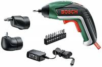 Bosch Cacciavite a Batteria IXO Set, 3.6 Volt, Testa ad Angolo, Testa Eccentrica, in Scatola di Metallo
