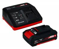 Einhell 4512021 Power X-Change Caricabatteria Veloce con Batteria al Litio, 18 V, Nero, Rosso, 1500 mAh Li-Ion