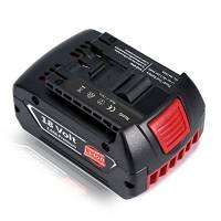 Batteria ricaricabile, 18V 3.0Ah Batteria agli ioni di litio Ricaricabile Batteria di ricambio per attrezzo Bosch BAT609 BAT609 BAT618 BAT618 BAT619 BAT619 BAT622 BAT620-2PK SKC181-202L, Batteria scorrevole per Bosch Elettrodomestici / Accessori / Utensili / Elettroutensili / Avvitatori a batteria, con Caricabatteria di ricarica dello strumento slide (non originale di marca Bosch) - Topgio (3.0Ah)