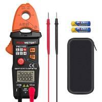 Pinza amperometrica CC / CA, misuratore di corrente di tensione PEAKMETER Multimetro senza contatto per la misurazione di resistenza, capacità, frequenza con custodia