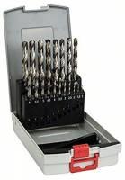 Bosch Professional Set da 19 Pezzi di punte per metallo HSS-G ProBox, rettificate, accessorio per trapano avvitatore e trapano a colonna