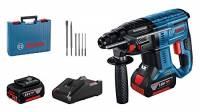 Bosch Professional Sistema 18V Martello Perforatore a Batteria Gbh 18V-21 , Numero di Giri a Vuoto 0-1800 giri/min, Inclussi 2 Batterie Gba 18V da 5.0Ah + Caricabatteria Gal 18V-40, Amazon Exclusive