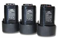 vhbw 3x Batteria Li-Ion 2Ah (10.8V) compatibile con HP330, HP330D, HP330W, HP330DWE, HP330DWLE sostituisce Makita 194550-6, 194551-4, BL1013, BL1014