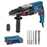 Bosch Professional Martello Perforatore GBH 2-28 F 880 Watt, foratura Ø calcestruzzo max: 28 mm, incl. set di 6 pezzi per trapano a scalpello, SDS-plus, in valigetta a L, Edizione Amazon