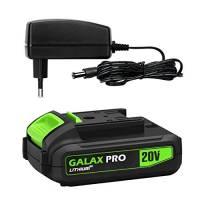 GALAX PRO ITGP-D6002, 20V MAX 1.3Ah Batteria Agli Ioni di Litio e Caricabatterie Rapido, Batteria di Ricambio per Trapano Avvitatore a Batteria e Utensili Elettrici