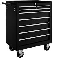 TecTake Carrello portautensili porta attrezzi officina con ruote   7 cassetti   -modelli differenti- (Nero   No. 402800)