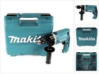 Makita HP1631KX3 Trapano PERCUSS 710W +Acc 74PZ, 710 W, 230 V