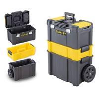 STANLEY STST1-80151 Carrello porta utensili 3 in 1, 3 livelli di stoccaggio, Capacità di carico 20 kg