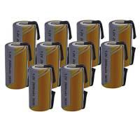 10 X Batteria Pila SC 2000mAh 2.0Ah Ni-Cd 1,2V con lamelle a saldare per pacchi batterie trapani torce allarmi