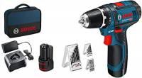 Bosch Professional Sistema 12V Trapano Avvitatore Gsr 12V-15 ( 2X2.0Ah Batterie + Caricatore, Set Accessori 39 Pezzi, in Borsa) - Amazon Exclusive