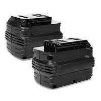 CELLONIC® 2X Batteria DE0240, DE0243, DE0241, DW0240, DE0240-XJ,DW0242 per Dewalt DW004, DW007, DW005, DC222, DC222KA, DC223 Batteria di Ricambio da 3Ah NiMH Affidabile Ricambio Sostituzione