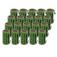 20x Batteria Pila NI-MH SC 2200mAh 2.2Ah 1,2V con lamelle linguette a saldare per pacchi pacco batterie trapani torce allarmi sostituisce Ni-Cd 2000mAh 2Ah