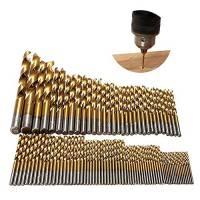 Tian 99 Pezzi Punte per Trapano HSS Set 1.5mm - 10mm Titanio Metallo Rivestito Elicoidali Punte da Trapano Strumenti per Plastica Legno Alluminio
