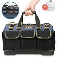 AIRAJ 14 - Borsa porta attrezzi impermeabile con base sagomata e tracolla regolabile,water proof tool tote bag,large capacity storage bag,work storage bag for men,electrician tool bags storage