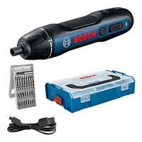 Bosch Professional Avvitatore a Batteria Bosch Go, Inclussi Set di Punte 25 Pezzi, Cavo di Ricarica Usb, L-Boxx Mini, Amazon Exclusive