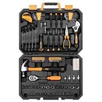 Set di utensili da 128 pezzi - Kit di attrezzi per uso domestico generico, set di strumenti di riparazione automatica, con custodia di plastica per attrezzi