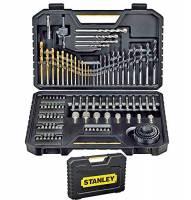 STANLEY - 7205 sta-xj - set 100 con le punte per i metalli titanio, legno e muratura e inserti