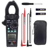 BEVA Pinza Amperometrica 6000 True RMS,Mutimetro Digitale Senza Contatto, Tester di Tensione AC/DC, Corrente AC, Diodo, Voltaggio, Resistenza