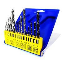 S&R Punte da Trapano Metallo HSS / Muro Cemento / Legno. Set di 15 Punte Miste Professionali